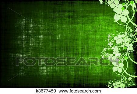 Stock Illustration - grün, wein, oder, essen, menüschablone k3677459 ...