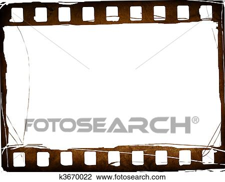 Clip Art of Great film strip for textures and backgrounds frame ...