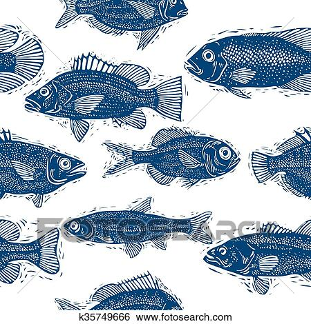 clipart poisson eau douce vecteur interminable mod le nature et marin th me seamless. Black Bedroom Furniture Sets. Home Design Ideas