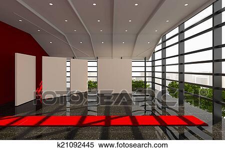 Ufficio Rosso E Bianco : Archivio illustrazioni rosso ufficio interno moderno k