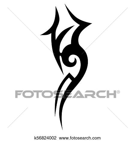 21f660242 Clipart - Tribal tattoo vector design sketch. Sleeve art abstract pattern  arm. Simple logo