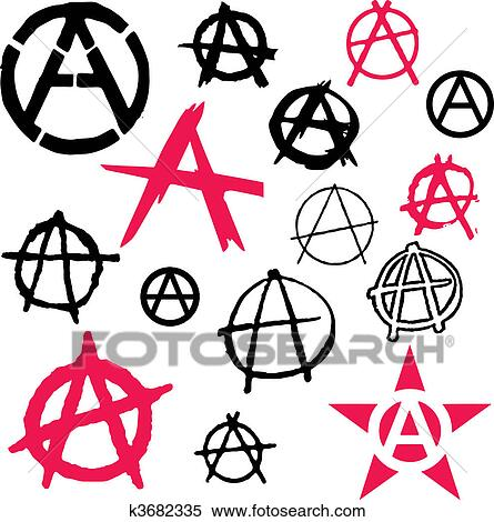 Clipart Of Anarchy Symbol Icon Vector K3682335 Search Clip Art