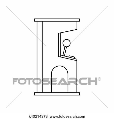 Drawing Of Arcade Game Machine Icon Outline Style K - Game outline