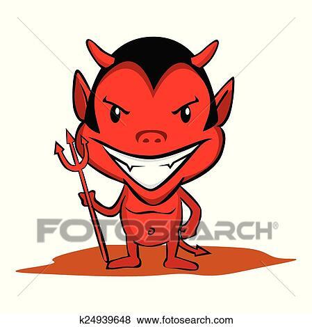 Clipart petit diable k24939648 recherchez des - Coloriage petit diable ...