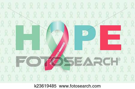 Thyroid Cancer Ribbon Clipart K23619485 Fotosearch