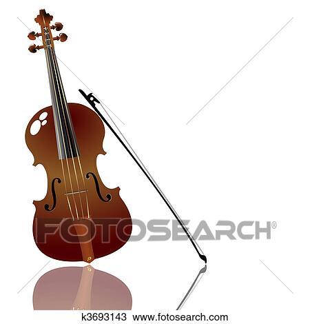 Arco E Violino Desenho K3693143 Fotosearch