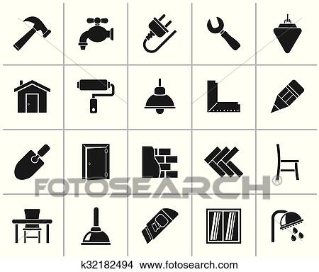 Computer Icons Home Improvement Renovation House PNG, Clipart, Angle, Area,  Bathroom, Black And White, Brand Free