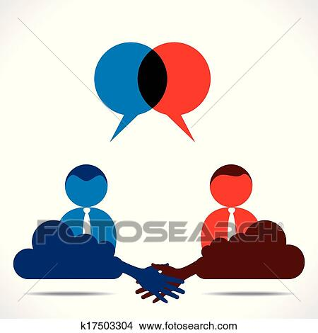 Clipart Of Business Deal Or Agreement K17503304 Search Clip Art