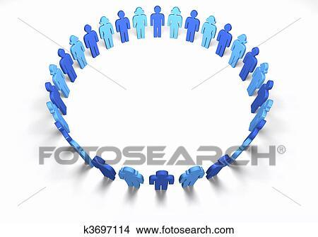 Dibujos Hombres Y Mujeres Azul Círculo K3697114 Buscar Clip