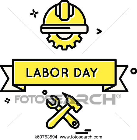 Labour Day Icon Design Vector Clipart K60763594 Fotosearch