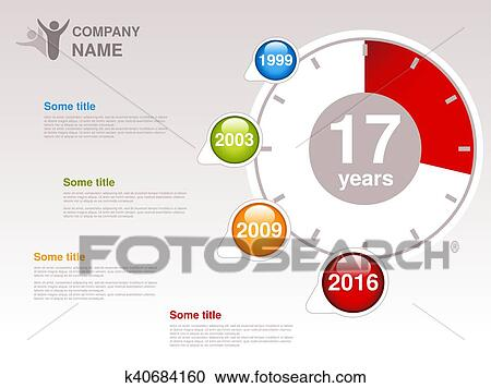 Clipart of Vector timeline. Infographic template for company ...