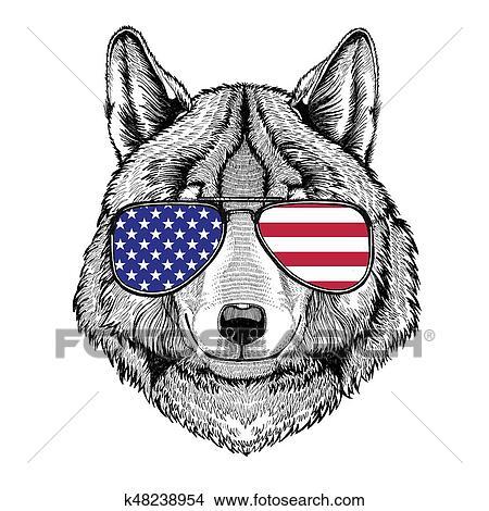 狼 犬 手 引かれる イラスト ために 入れ墨 紋章 バッジ