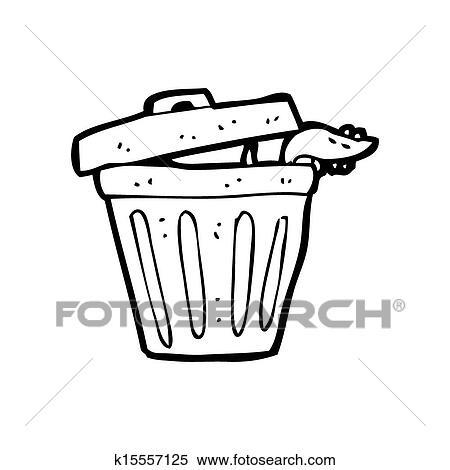 Dessin anim poubelle banque d 39 illustrations k15557125 fotosearch - Dessin de poubelle ...