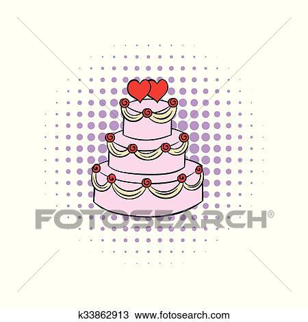 Hochzeit Kuchen Comics Symbol Clipart