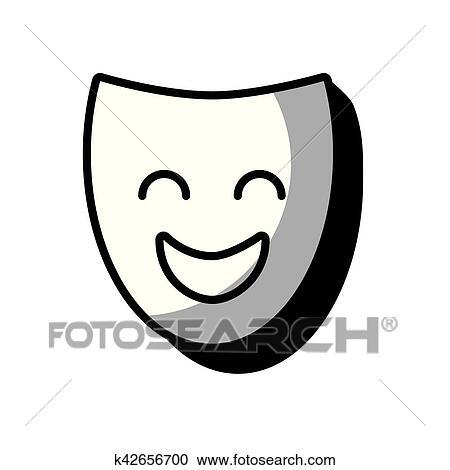 presa di fabbrica originale a caldo Buoni prezzi Maschera teatro, classico, icona Clipart