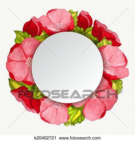 Clipart of round pink peony flowers vintage frame k20402721 search clipart round pink peony flowers vintage frame fotosearch search clip art illustration mightylinksfo