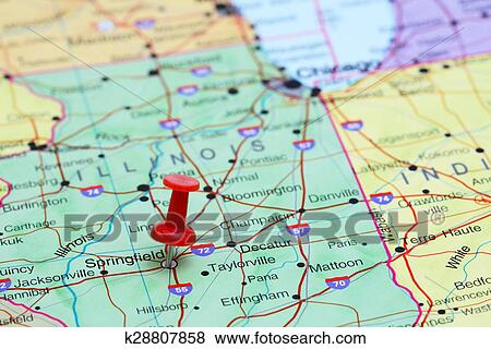 Springfield Usa Map.Pictures Of Springfield Pinned On A Map Of Usa K28807858 Search