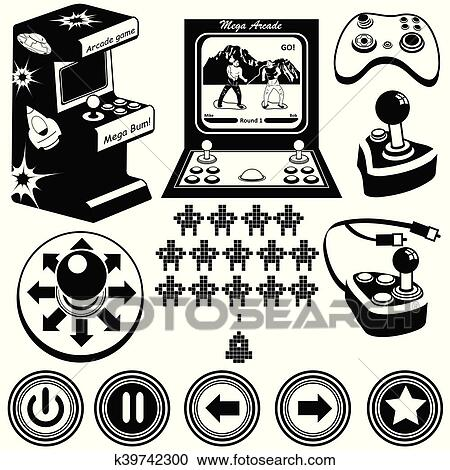 Arcade Games Icons Clipart K39742300 Fotosearch