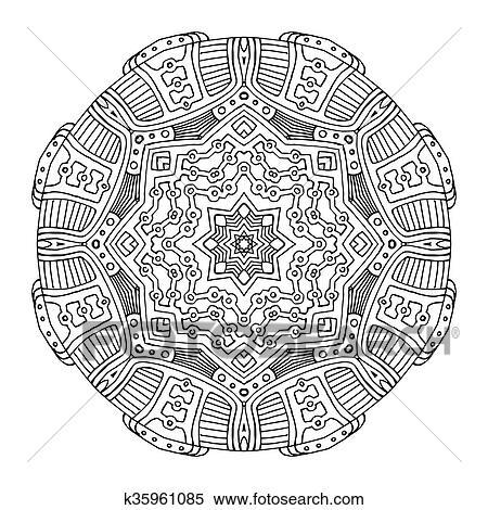 Clipart - azteca, rana, mandala k35961085 - Buscar Clip Art ...