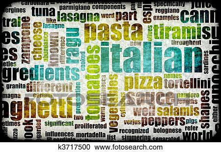 Stock Illustrationen - italienische küche k3717500 - Suche Clipart ...