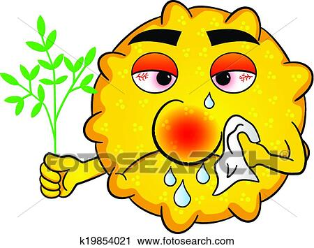 clipart of pollen with hay fever k19854021 search clip art rh fotosearch com happy clip art images happy clipart