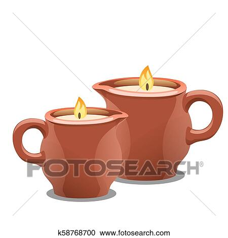 spa candles clipart - Clip Art Library