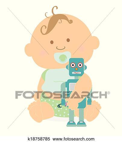 Bambino Disegno Clipart K18758785 Fotosearch