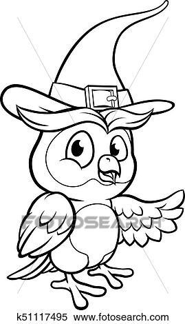 Cartoon Owl Character Clipart
