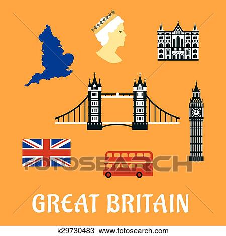clipart of great britain travel flat icons k29730483 search clip