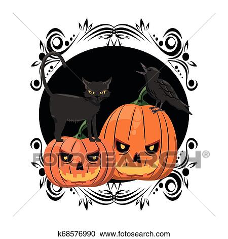 Halloween Scary Cartoons Clipart K68576990 Fotosearch