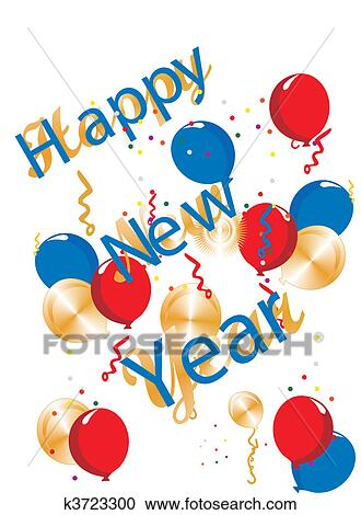clipart happy new year generic illustration fotosearch search clip art illustration murals