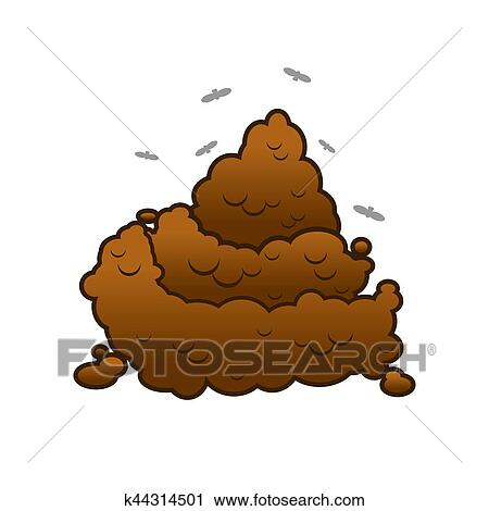clipart of poop and flies shit isolated turd on white background rh fotosearch com clip art people clip art pool