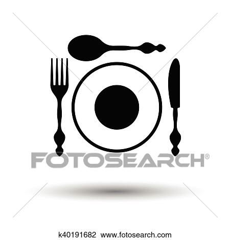 Knives Clipart Dinner Knife - Plate And Silverware Clipart - Png Download  (#3780927) - PinClipart