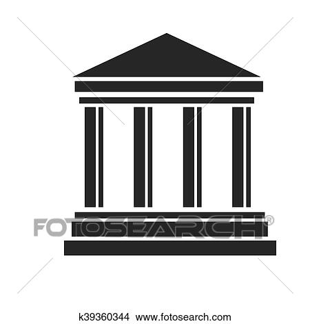 clipart of bank building courthouse k39360344 search clip art rh fotosearch com clip art banker clipart bandaid
