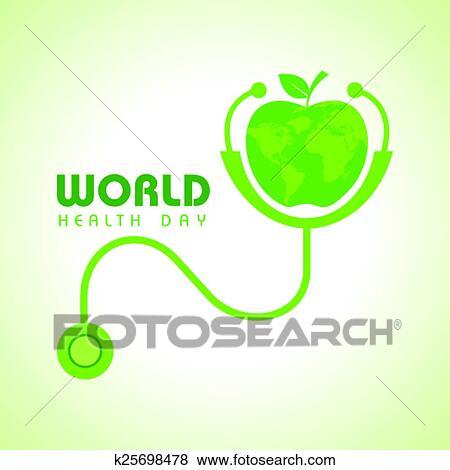 Clip Art Of Creative World Health Day Greeting K25698478