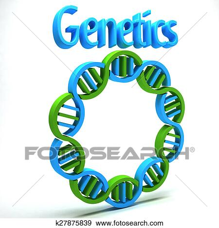 Stock Illustration Of Genetics Logo K27875839