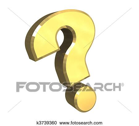 Stock Illustrations Of Question Mark Help Symbol In Gold 3d