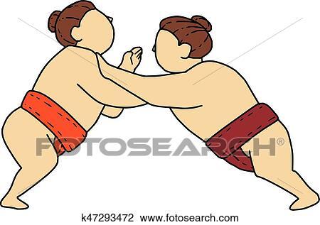 1,005 Sumo Wrestler Illustrations, Royalty-Free Vector Graphics & Clip Art  - iStock