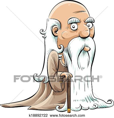 clipart of wise old man k18892722 search clip art illustration rh fotosearch com old man clip art funny old man clipart happy smile pic