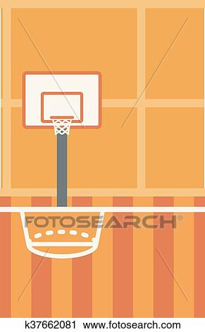 Background Of Basketball Court Clipart K37662081 Fotosearch