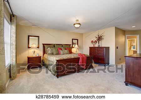 banque de photographies beau chambre coucher parfait dor literie et carpet. Black Bedroom Furniture Sets. Home Design Ideas