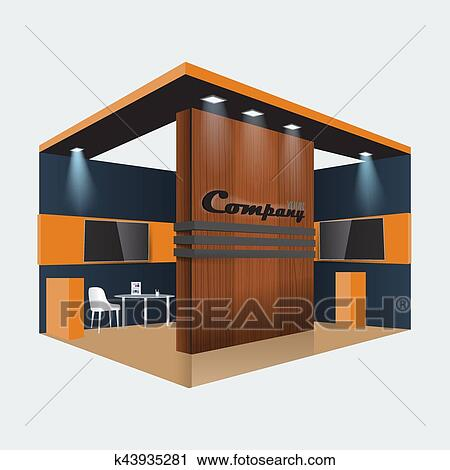 Small Exhibition Stand Vector : Creative exhibition stand design booth template corporate