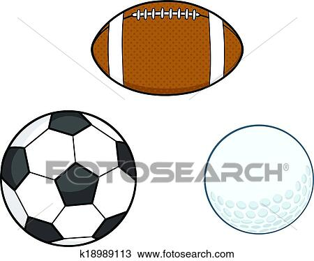 clipart of different sport balls collection k18989113 search clip rh fotosearch com sports balls clipart images sports balls clip art free