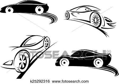 clipart esportes correndo carro pretas silhuetas k25292316
