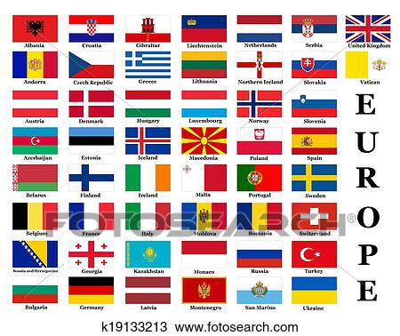 List Of All European Country Flags