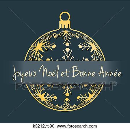 Auguri Di Buon Natale Francese.Francese Natale Anno Nuovo Fondo Clipart