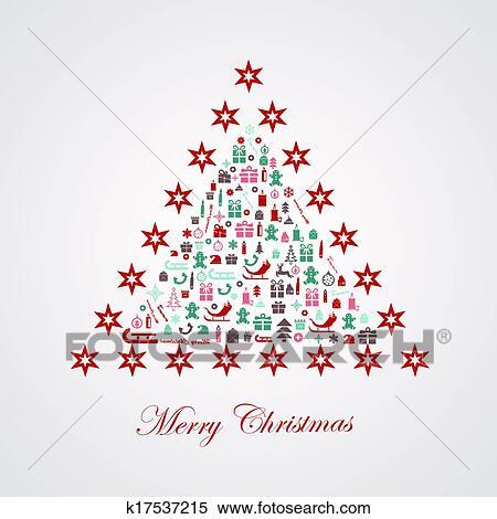 Immagini Natalizie Stilizzate.Stilizzato Disegno Albero Natale Clipart