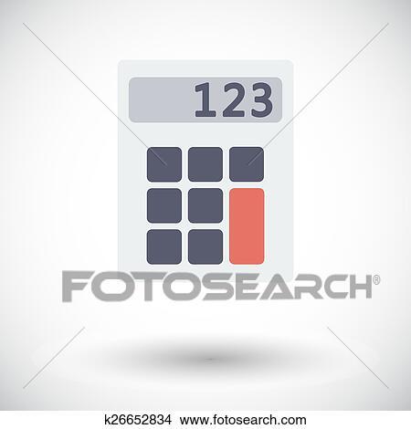 Clipart Taschenrechner Icon K26652834 Suche Clip Art
