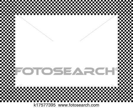 Stock Image Of Black And White Checkered Frame K17577395 Search