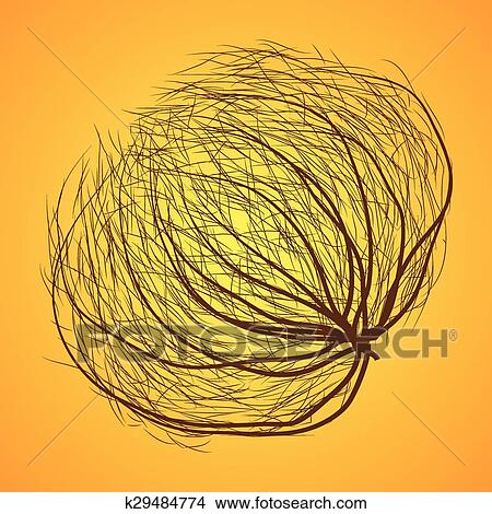 clipart of isolated tumbleweed k29484774 search clip art rh fotosearch com Rock Clip Art Cactus Clip Art Black and White